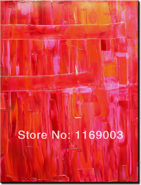 large Abstract modern red canvcas art font b knife b font paint handpainted oil painting only