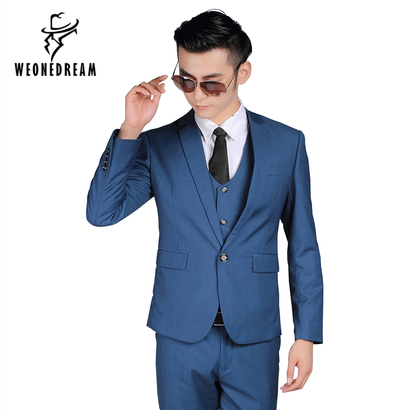 WEONEDREAM Mens Costume 2018 Nouvelle Arrivée Hommes Mode Slim Fit Costumes  Homme D affaires Costume fa64dfb9877