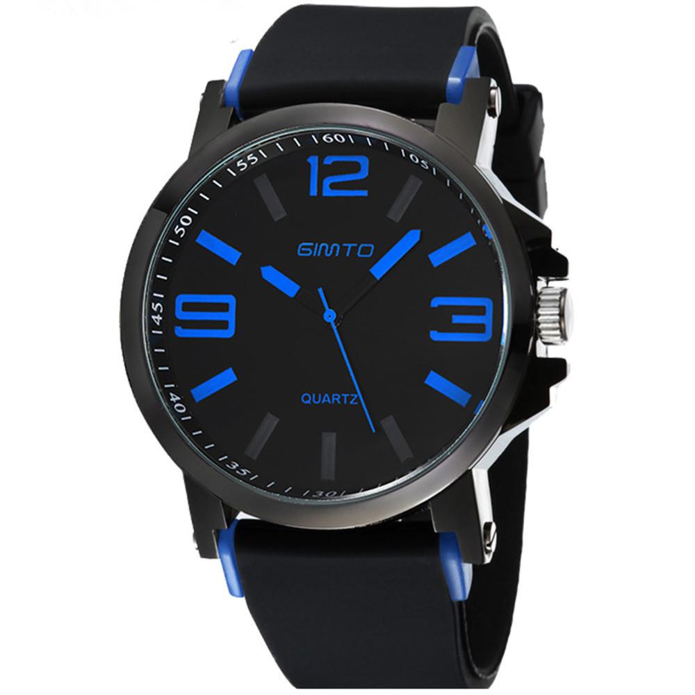Prix pour Hommes montre mode GIMTO marque bracelet en silicone sport en plein air montres simple élégant quartz montre-bracelet relogio masculino