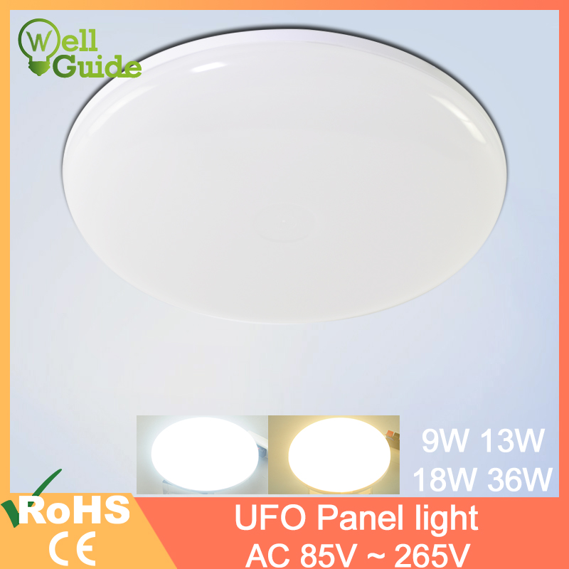 ceiling light 9W 13W 18W 36W LED Round Panel Light down Surface Mounted led AC 85-265V lampada lamp