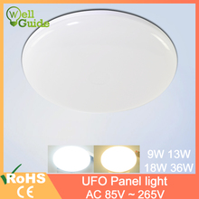 ceiling light 9W 13W 18W 36W LED Round Panel Light down light Surface Mounted led ceiling light AC 85-265V lampada led lamp 3w 170 lumen 6500k white led ceiling lamp down light ac 85 265v