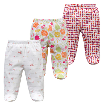 3PCS/lot Baby Pants 100% Cotton Autumn Spring Newborn Baby Boys Girls Trousers Kid Wear Infant Toddler Cartoon For Baby Clothing 3