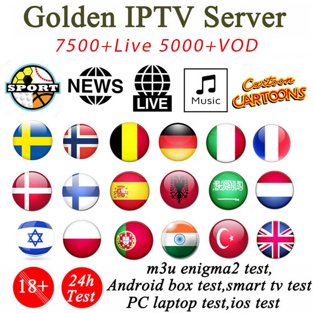 Android 9.0 TV box + 1 Ano Francês Assinatura IPTV Italia luxemburgo países baixos Portugal Espanha Suécia Holanda Canadá EUA m3u Inteligente para smart TV