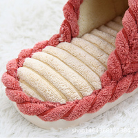Home slippers for men corduroy cheaper designer short plush winter slippers men warm comfortable non-slip male slippers 3