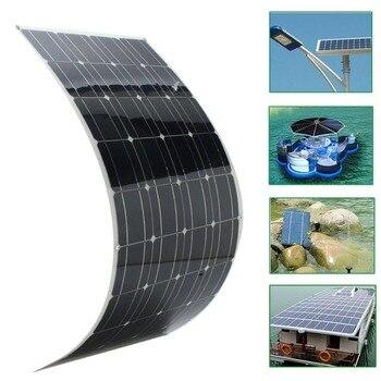 Elfeland 12 v A-Classe de 120 w Semi Flexível Painel Solar Carregador de Bateria Para Barco RV