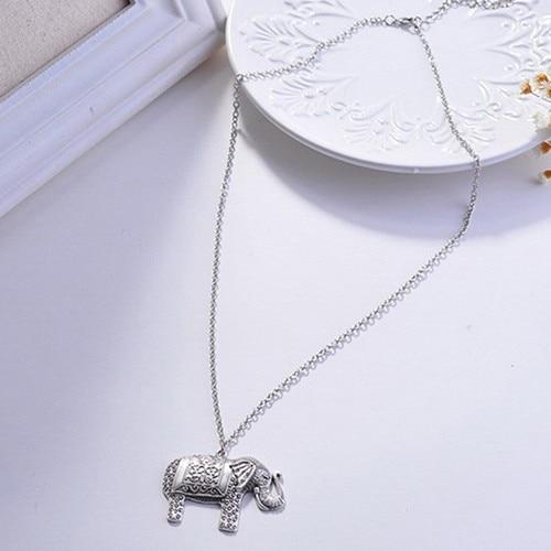 Charm Elegant Silver Elephant Necklace