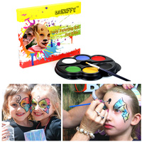 SHERFFY Children 6 Colors Halloween Face Body Paint Flash Tattoo Oil Painting Arts Birthday Baby Shower