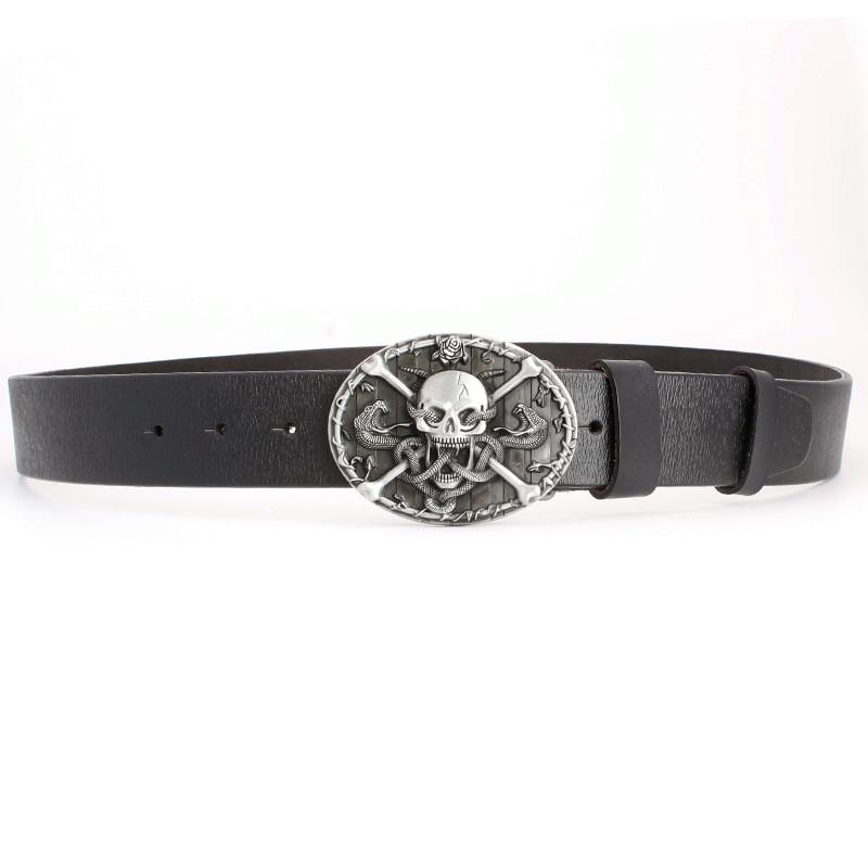drop shipping men s cowskin leather belt skull buckle heavy metal rock punk  belt snake pattern Hip hop accessories-in Women s Belts from Apparel  Accessories ... 25646995a68f