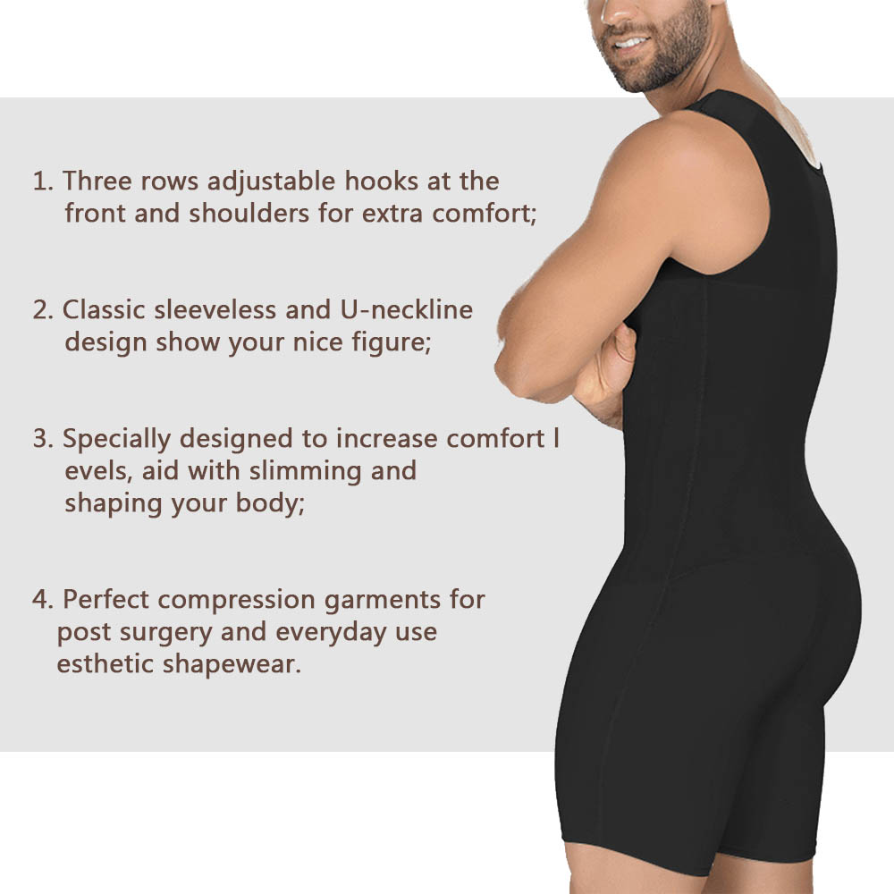Image 4 - Lover Beauty Men's Compression Garments Fajas Colombianas Para Hombre Bodysuit Slimming Body Shaper Waist Girdle Shapewear-in Shapers from Underwear & Sleepwears on AliExpress