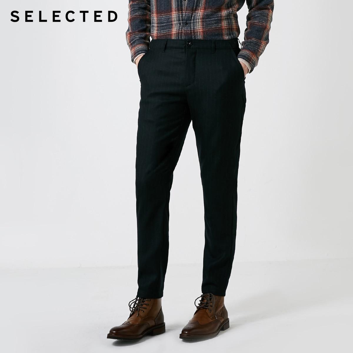 Pantalones informales elásticos a rayas de otoño e invierno para hombre seleccionados  418414523-in Pantalones pitillo from Ropa de hombre    2