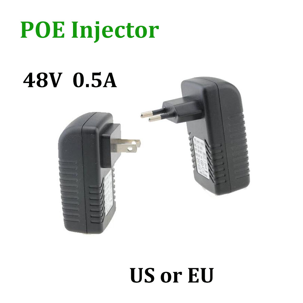 POE 48V 0.5A POE Injector EU US Wall Plug Ethernet Adapter for IP Camera Power Over Ethernet Injector POE Switch Power supply cctv 4 port 10 100m poe net switch hub power over ethernet poe