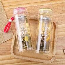 Двухслойные Стеклянные бутыль для чая или воды чашки бытовые стеклянные чашки водяные чашки портативные чашки фильтр изоляционный вакуум фляги термосы