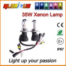 35 Вт/55 Вт ксенон H4 Высокий низкий би ксеноновых фар HID ксеноновая лампа 4300 К 5000 К 6000 К 8000 К 10000 К, би ксенон h4