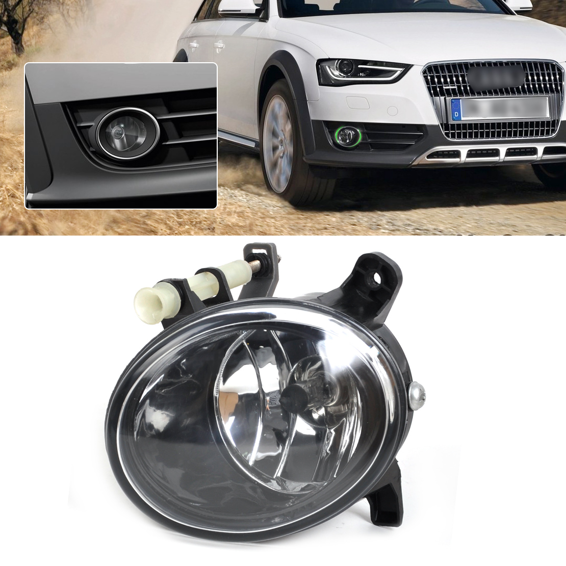 DWCX 8T0941700B Front Right Fog Light Lamp for Audi A4 B8 / S4 / A4 Allroad / A6 C6 / S6 / A5 / S5 / Q5 фары номерного знака candy 5 18 smd audi audi a4 b8 s4 a5 s5 q5 s tt rs