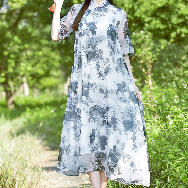 new summer womens dresses ink and wash print maternity dresses pregnancy dresses maternity clothing summer clothing 16492