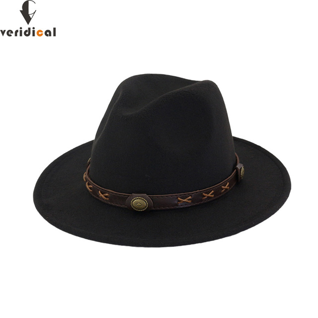 076f3d8be8e VERIDICAL New 2018 Sun Hat Cowboy Hat Men and Women Travel Caps Jazz hat  good quality Western Hats Chapeu Cowboy 12 colors