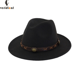 bf35341a6cc40 VERIDICAL New 2018 Sun Hat Cowboy Hat Men and Women Travel Caps Jazz hat  good quality