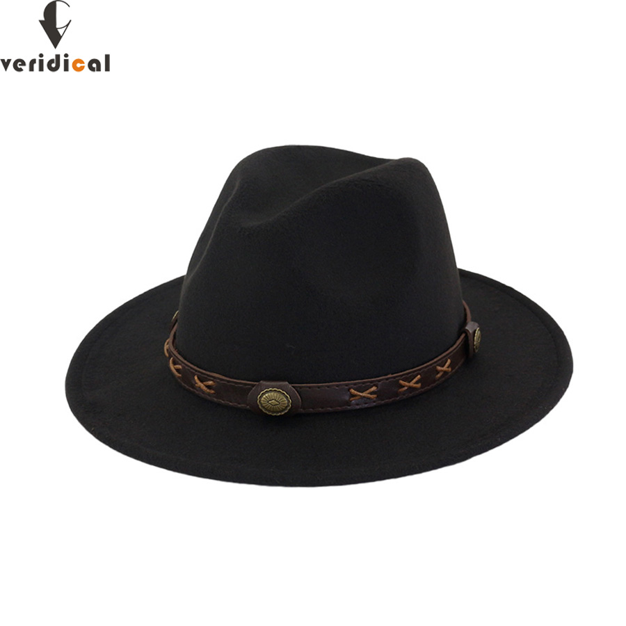 VERIDICAL New 2018 Sun <font><b>Hat</b></font> <font><b>Cowboy</b></font> <font><b>Hat</b></font> Men and Women Travel Caps Jazz <font><b>hat</b></font> good quality Western <font><b>Hats</b></font> Chapeu <font><b>Cowboy</b></font> 12 colors image