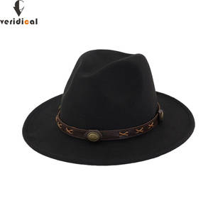 bef1673af7d VERIDICAL New 2018 Sun Hat Cowboy Hat Men and Women Travel Caps Jazz hat  good quality Western Hats Chapeu Cowboy 12 colors