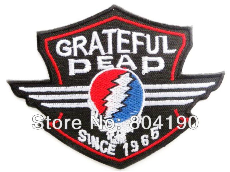 GRATEFUL DEAD Skull Shield Music Band Heavy Metal Iron On Sew On Patch Tshirt TRANSFER MOTIF