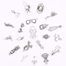 цена All Antiqued Silver Clothes Hat Glasses Shoes Charms for Jewelry Making DIY Components for Jewelry Crafts Bracelets Making онлайн в 2017 году
