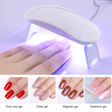 6 W Mini 3 LED UV LED Curing Lampu Lampu LED Portable Nail Dryer untuk Semua Gel Cat Kuku alat Seni(China)