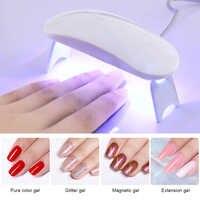 Secador de uñas blanco de 6 W, lámpara LED UV, Cable Micro USB portátil, secador de esmalte de Gel UV para uso doméstico herramientas para decoración de uñas con lámpara de 3 LEDS