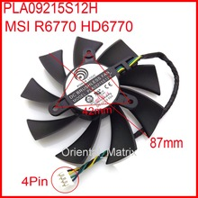 PLA09215S12H 87mm VGA Fan For MSI R6770 HD6770 Graphics Card Cooling Fan 42mm x 42mm x 42mm 12V 0.55A 4Wire