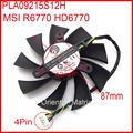 POWER LOGIC PLA09215S12H 87mm MSI R6770 HD6770 Graphics Card Cooling Fan 42mm x 42mm x 42mm 12V 0.55A 4Wire