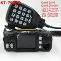 Новое Поступление QYT KT-7900D Quad band/Quad Дисплей 144/220/350/440 МГЦ Mobile radio 25 вт Большой ЖК-Дисплей KT7900D Walkie talkie