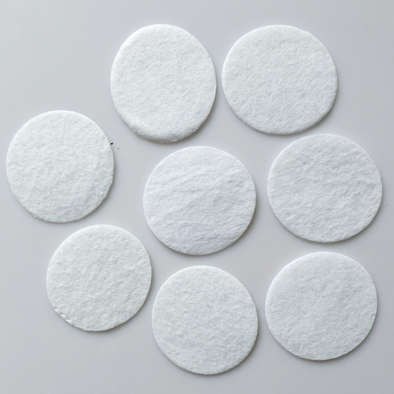 BLACK felt circles 4 cm QTY 100 Round felt patches for hair accessory making