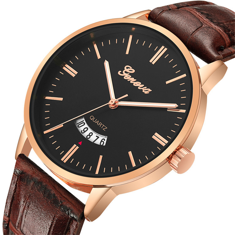Military Watch Men Sports Cool Automatic Watches With Date Male Wristwatches Brown Leather Men's Quartz Clock Relogios Masculino
