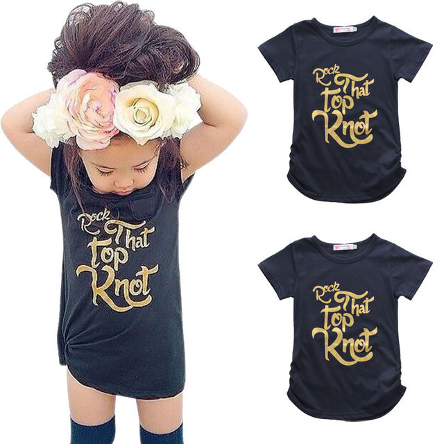 c8cf3df1 Tops Summer Kids Baby Girls Boys Clothes Gold Letter Tee Cotton Short  Sleeve Casual Black T-shirt Tops Clothes Summer