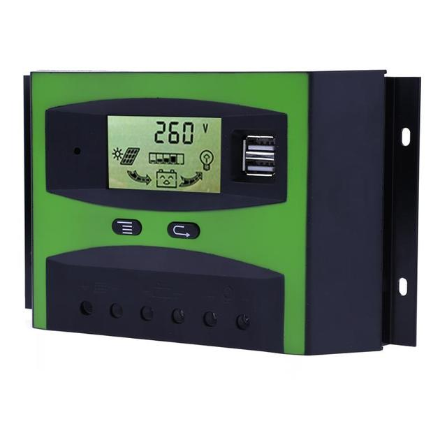 50A Current 12V 24V Voltage LCD Display Solar Panel Charge     50A Current 12V 24V Voltage LCD Display Solar Panel Charge Controller  Regulator Solar System Electric