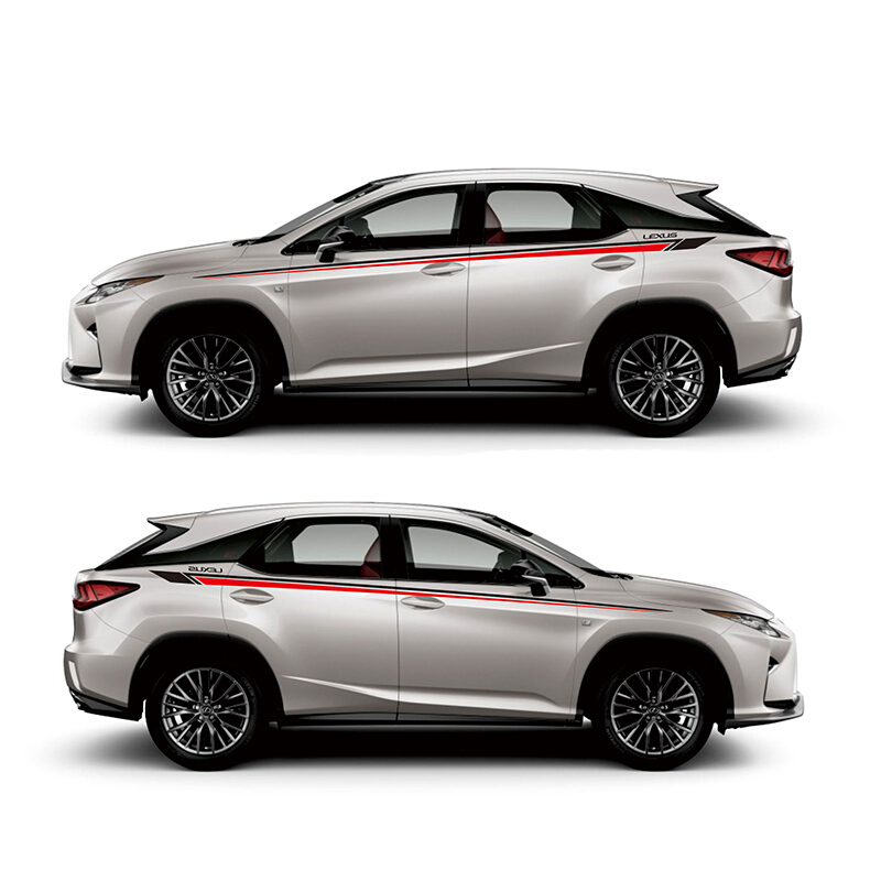 World Datong car styling sport car sticker for Lexus RX200t 350t 450h Auto Body Customized Decal Exterior Accessories in Car Stickers from Automobiles Motorcycles