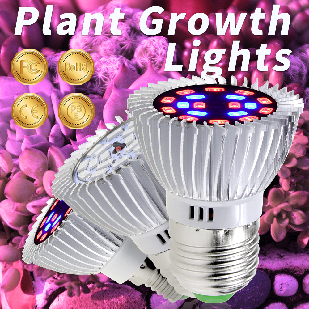 Grow LED Lamp For Plants E27 Indoor LED Grow Lights E14 Fitolamp 20W Phyto Lamp AC85-265V Full Spectrum LED Plant Growing LightGrow LED Lamp For Plants E27 Indoor LED Grow Lights E14 Fitolamp 20W Phyto Lamp AC85-265V Full Spectrum LED Plant Growing Light