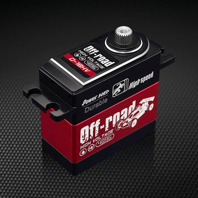 Power HD D-18HV 18KG/75g HV metal case digital servo for RC hobby off-road cars robots jx pdi 5521mg 20kg high torque metal gear digital servo for rc model