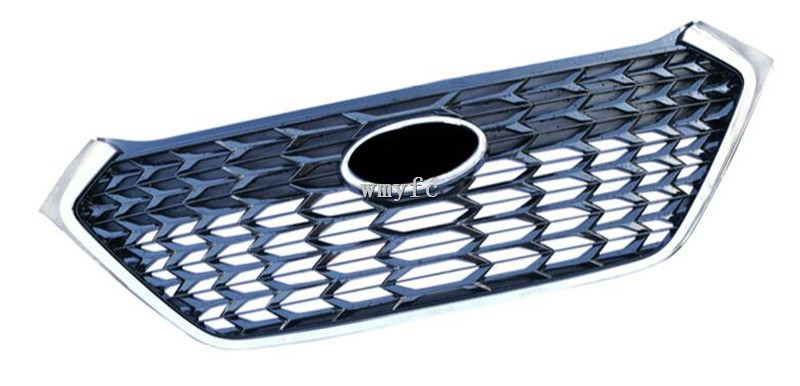 For Hyundai Tucson 2015 2018 FUSIONACING GRILLE GRILL FRONT MASK COVER GRILLS FIT FOR FUSION MONDEO BLACK SILVER CAR STYLING