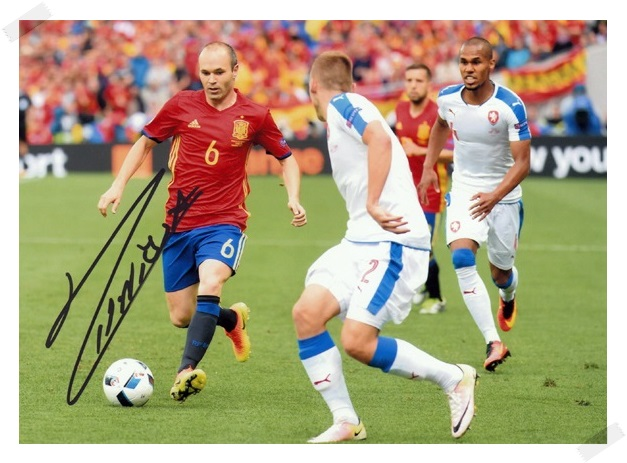 signed Andres Iniesta autographed  original photo  7 inches freeshipping 5 versions 072017 B signed zhou xun autographed original photo 7 inches freeshipping 4 versions 072017