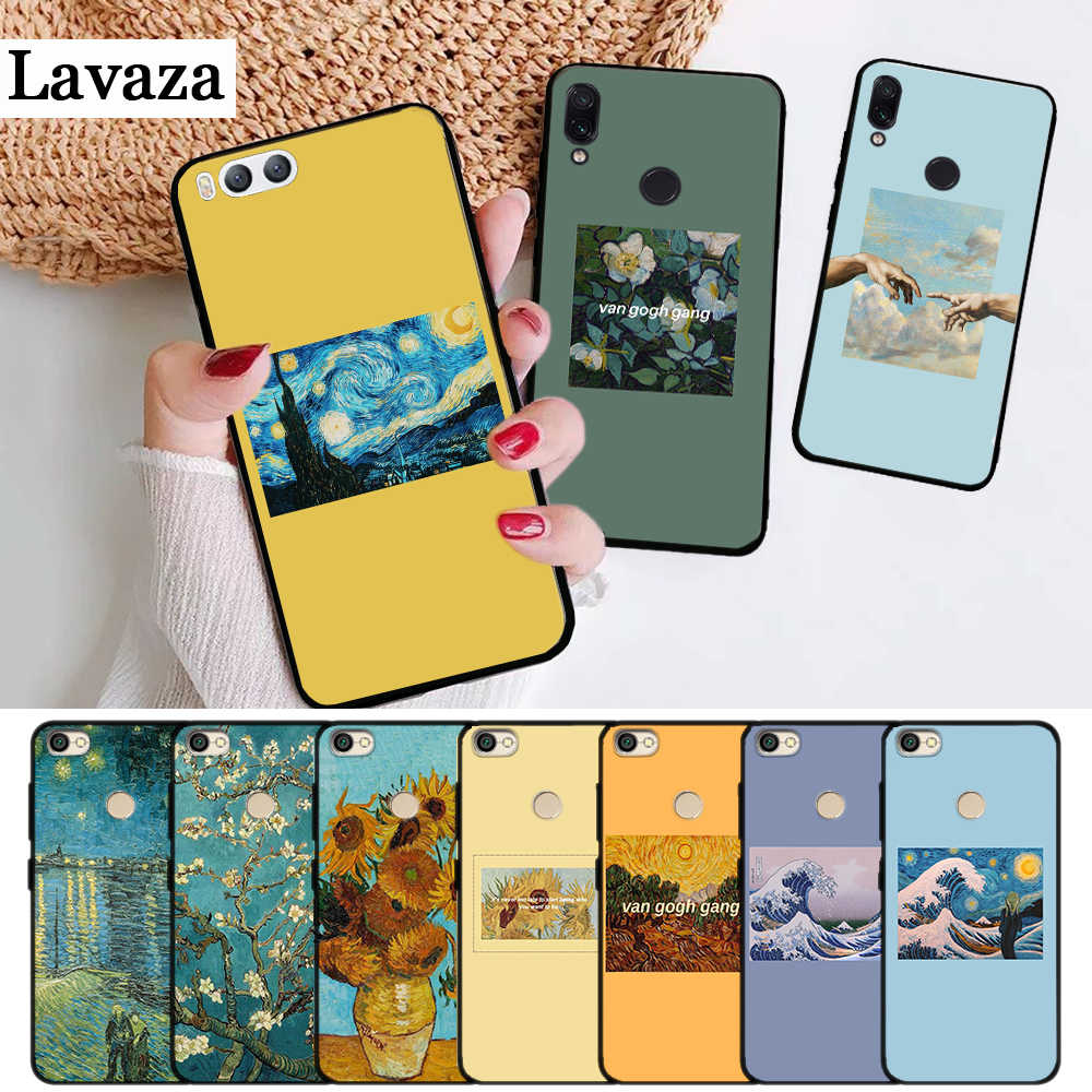 Lavaza Great Art Painting Van Gogh Silicone Case for Xiaomi Redmi 4A 4X 5A 5 Plus S2 6 6A 7A K20 Note 4 7 Pro Prime Go