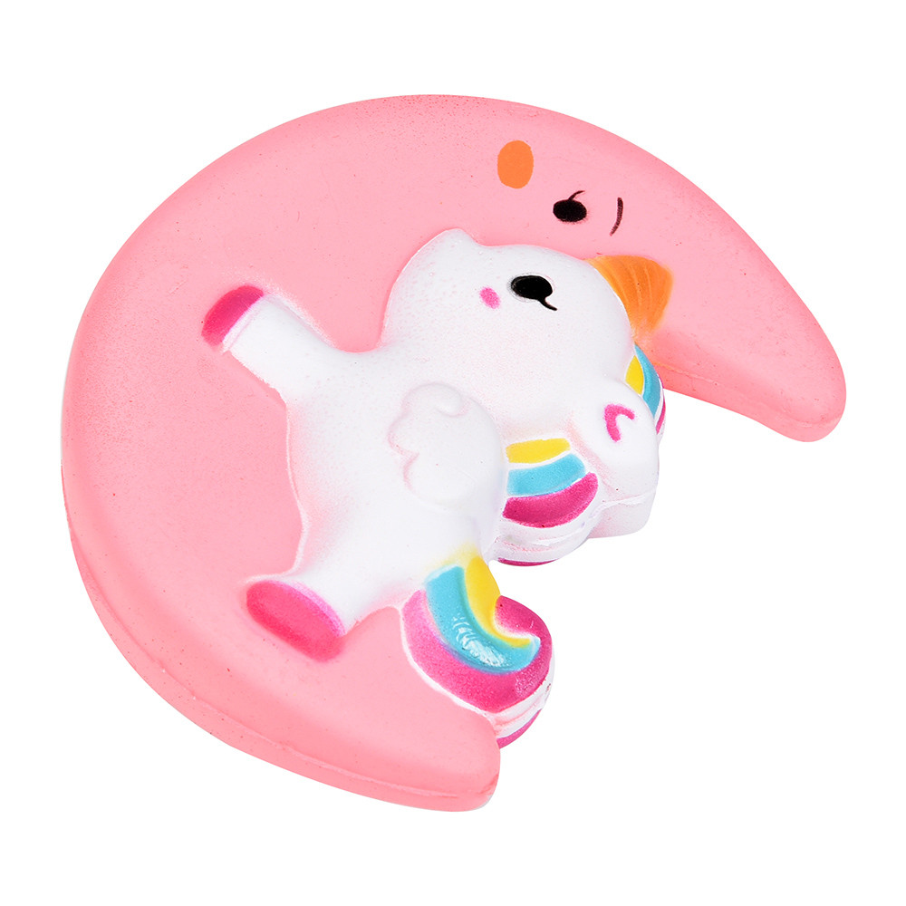 Squishy Unicorn Toy : Squishy Toy Cute Moon Unicorn Scented Cream Slow Rising Squeeze Decompression Nuri Toys