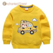 Baby girl clothes kids sweatshirt boy bear cartoon pattern print cotton top sweatshirt for girls kids clothes for girls Unisex