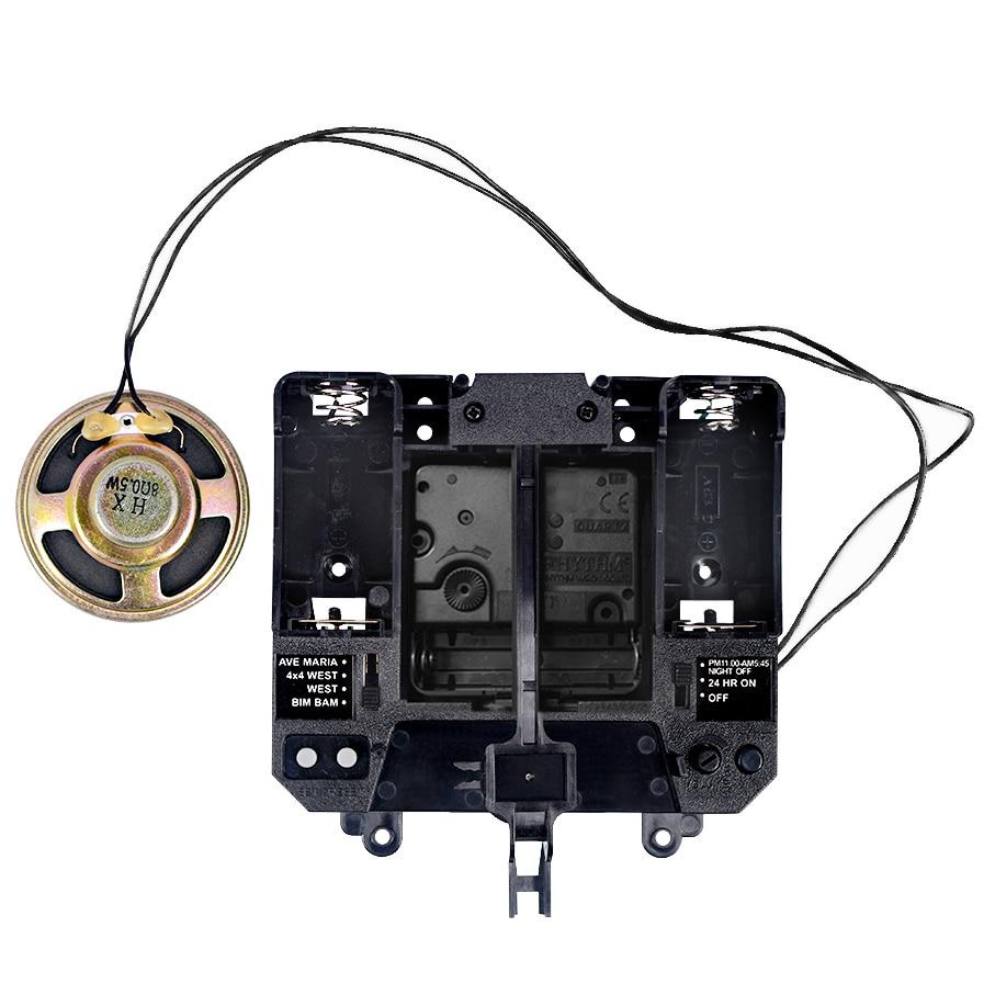 Rythme Silence mouvement musique carillon boîte en plastique Quartz mécanisme mains pendule unités d'entraînement horloge à faire soi-même Kits d'accessoires