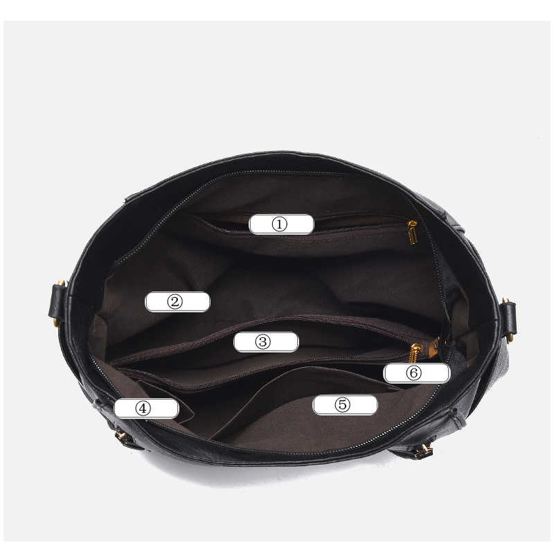 Женская кожаная сумка-мессенджер ZMQN, роскошная черная ручная сумка, вместительная сумка на плечо, модель A897, 2019
