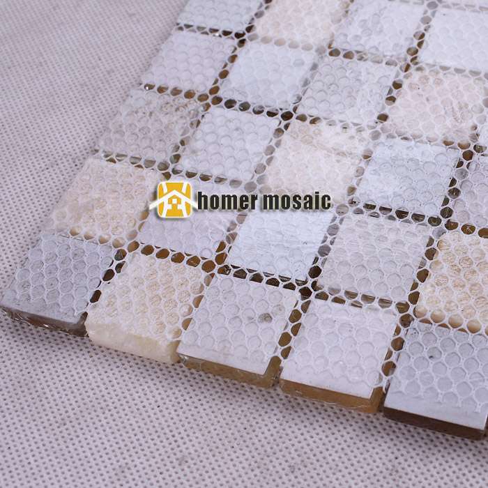 High Quality Yellow Crystal Glass Mosaic Tile For Kitchen Wall Bathroom Shower Room Swimming Pool Easy Clean Diy Home Decor Non-Ironing Wallpapers