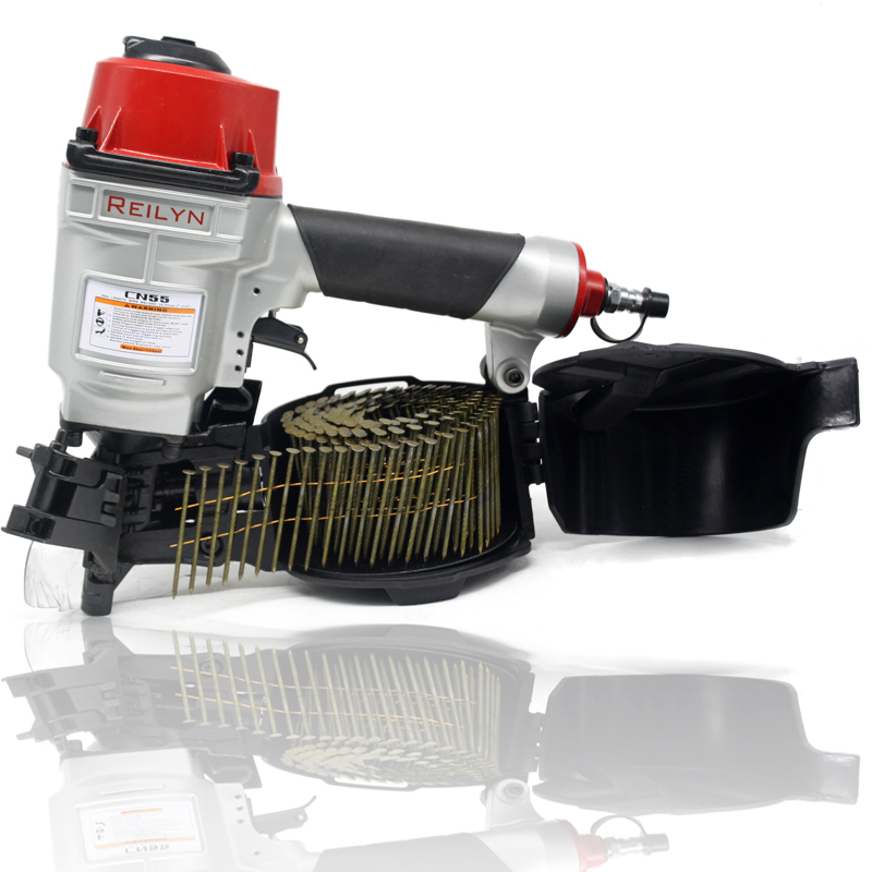 Tools : Reilyn Coil Nailer CN55 CN70 CN80 Pneumatic Air Nailer for wood working furniture roof sheating tool Air nailer tools
