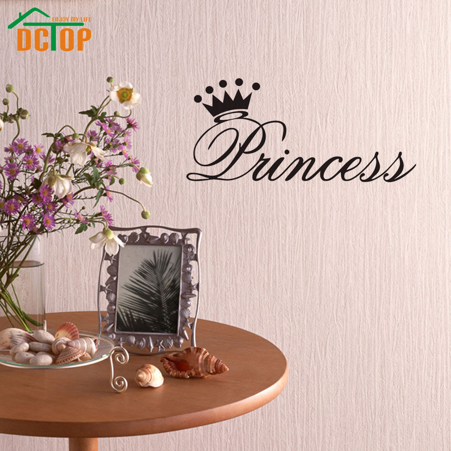 princess wall stickers for girls room decoration removable vinyl wall decals creative design. Black Bedroom Furniture Sets. Home Design Ideas