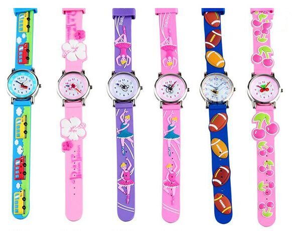 3D car Purple ballet flower cherry Design Analog Band Little Boys Girls Children Wrist Kids Watches,Waterproof north little boys girls children wrist kids watches cartoon 3d dolphin design analog band 30m waterproof blue