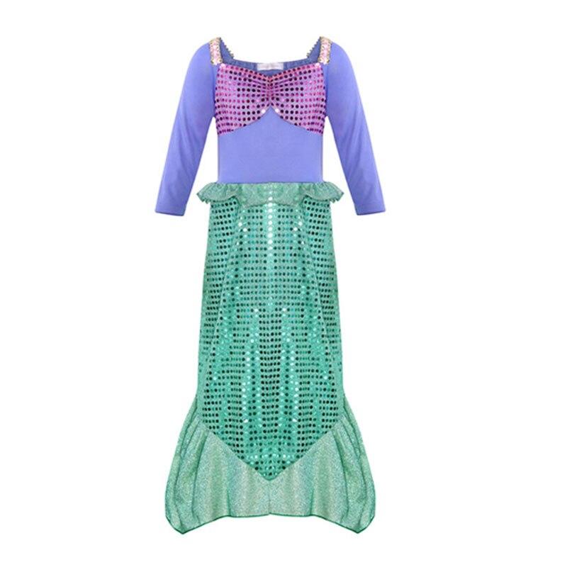 Children's Mermaid Cosplay Costume Christmas Party Evening Dress Stage Performance Skirt Girls Mermaid Princess Dress