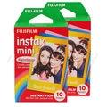 High qulaity Origiinal Fujifilm Instax Mini Instant Cartoon Film Rainbow 2 packs  for polaroid Mini 7s 8 25 50s 90 free shipping